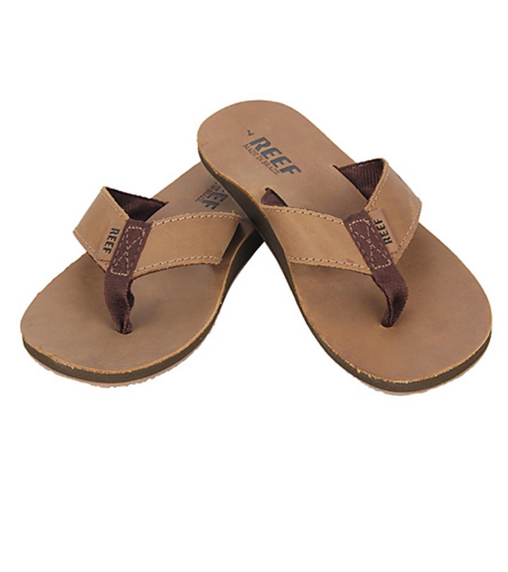 ebe56094718 Reef Guy s Leather Smoothy Flip Flop at SwimOutlet.com - Free Shipping
