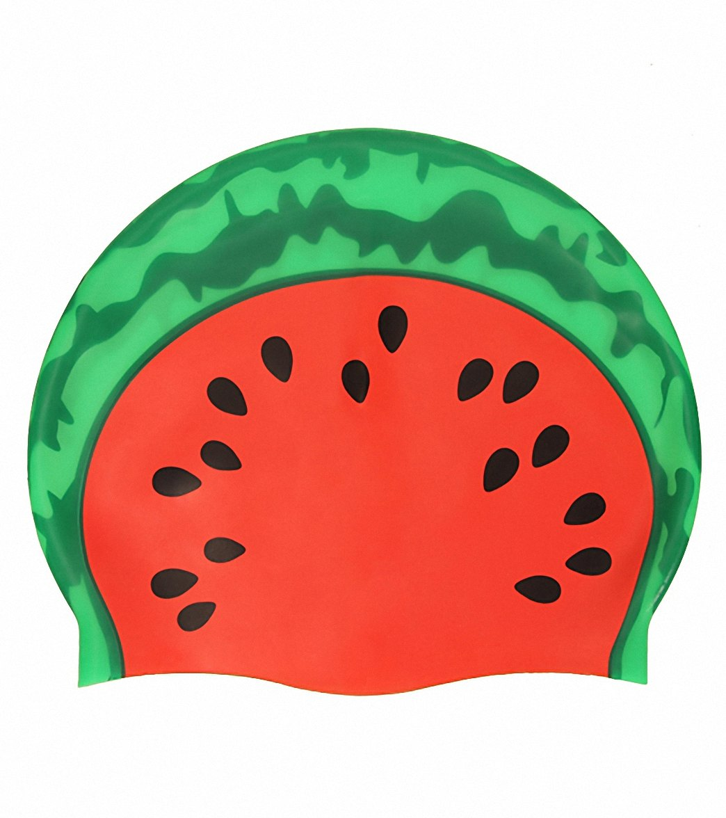 Sporti Watermelon Silicone Swim Cap at SwimOutlet.com 69f32d567ae