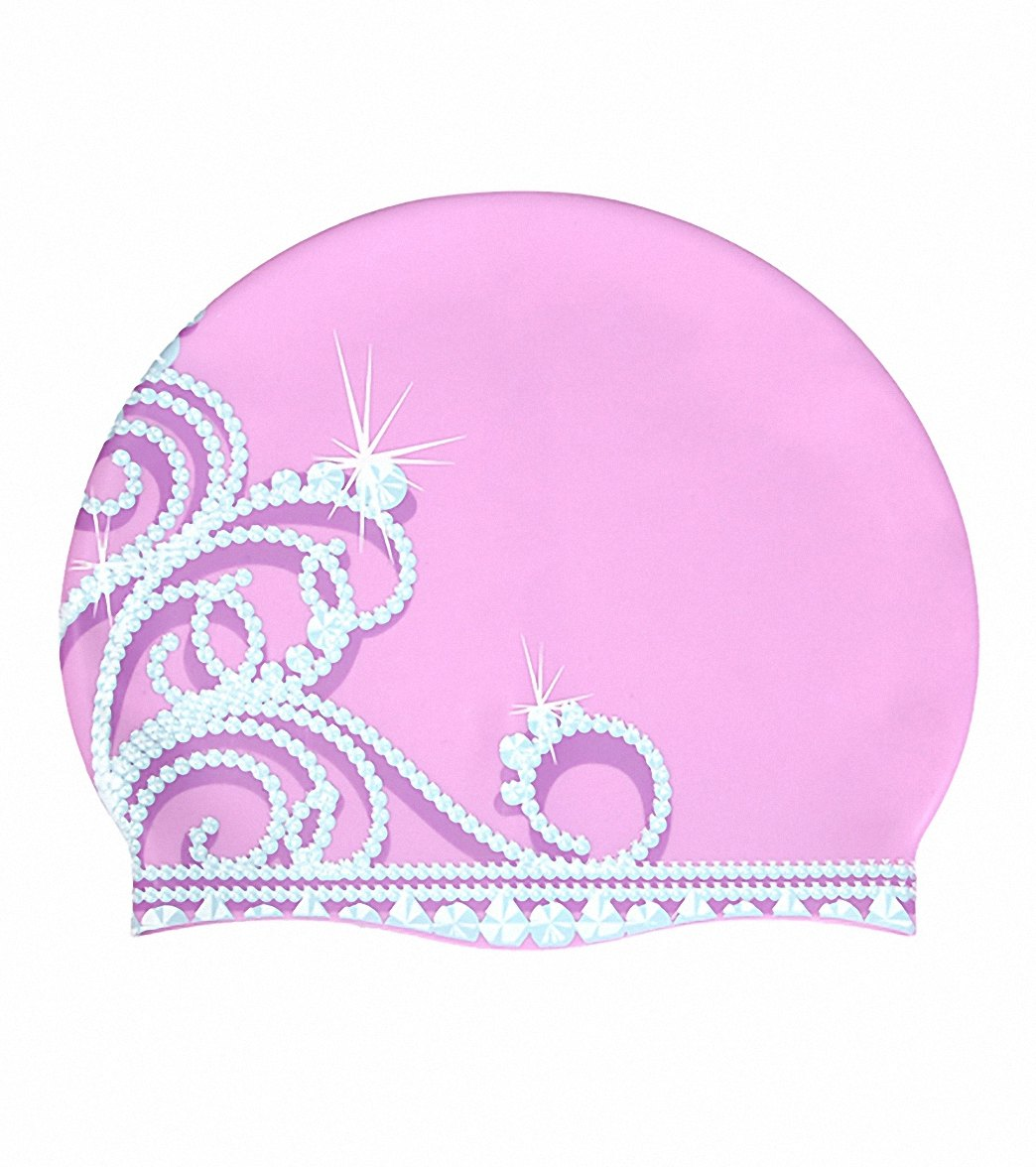 4d4c01bc8 Sporti Princess Tiara Silicone Swim Cap at SwimOutlet.com