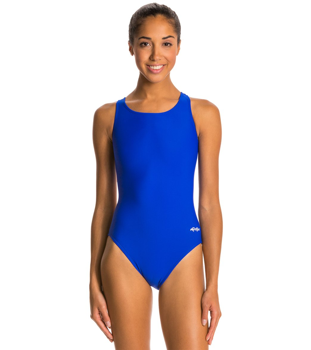 b15fa03b0dc Dolfin Xtra Life Lycra Solid HP Back One Piece Swimsuit at SwimOutlet.com