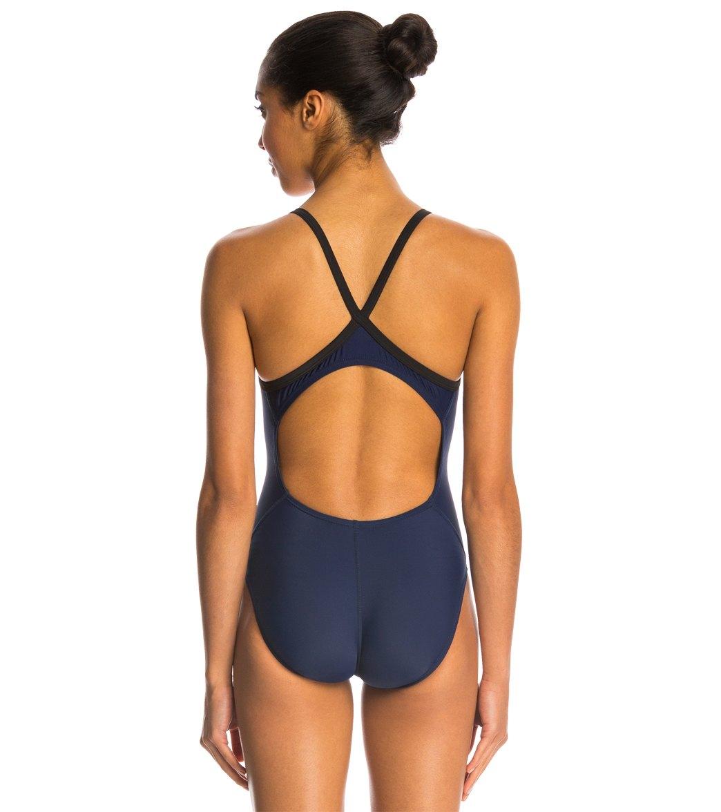 608bfaa06ee Nike Swim Nylon Core Solids Lingerie Tank One Piece Swimsuit Fast Back  Swimsuit