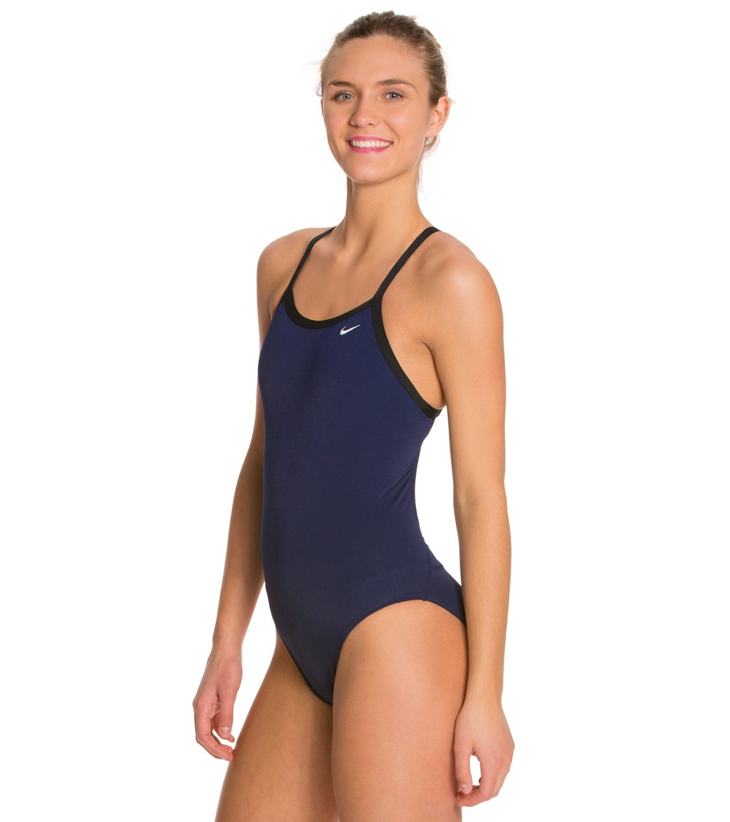 2b26487a27886 Nike Women s Solid Poly Training Lingerie Tank One Piece Swimsuit at ...