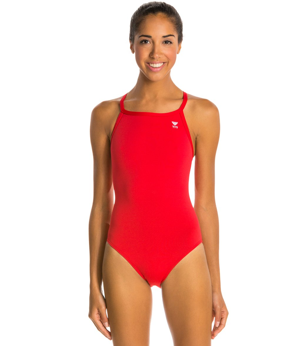 62081bc05ca72 TYR Durafast Elite Solid Diamondfit One Piece Swimsuit at SwimOutlet.com -  Free Shipping