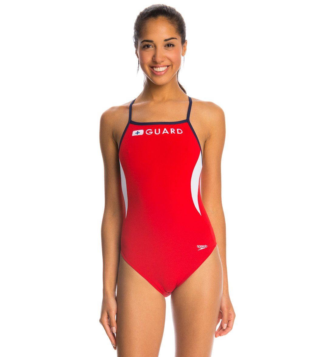 c5980e027b Speedo Lifeguard Energy Back One Piece Swimsuit at SwimOutlet.com - Free  Shipping