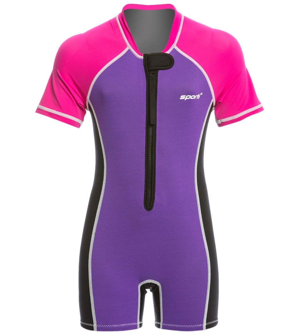 e18de4f250 Sporti Kid's UPF 50+ Short Sleeve Solid Thermal Suit at SwimOutlet.com