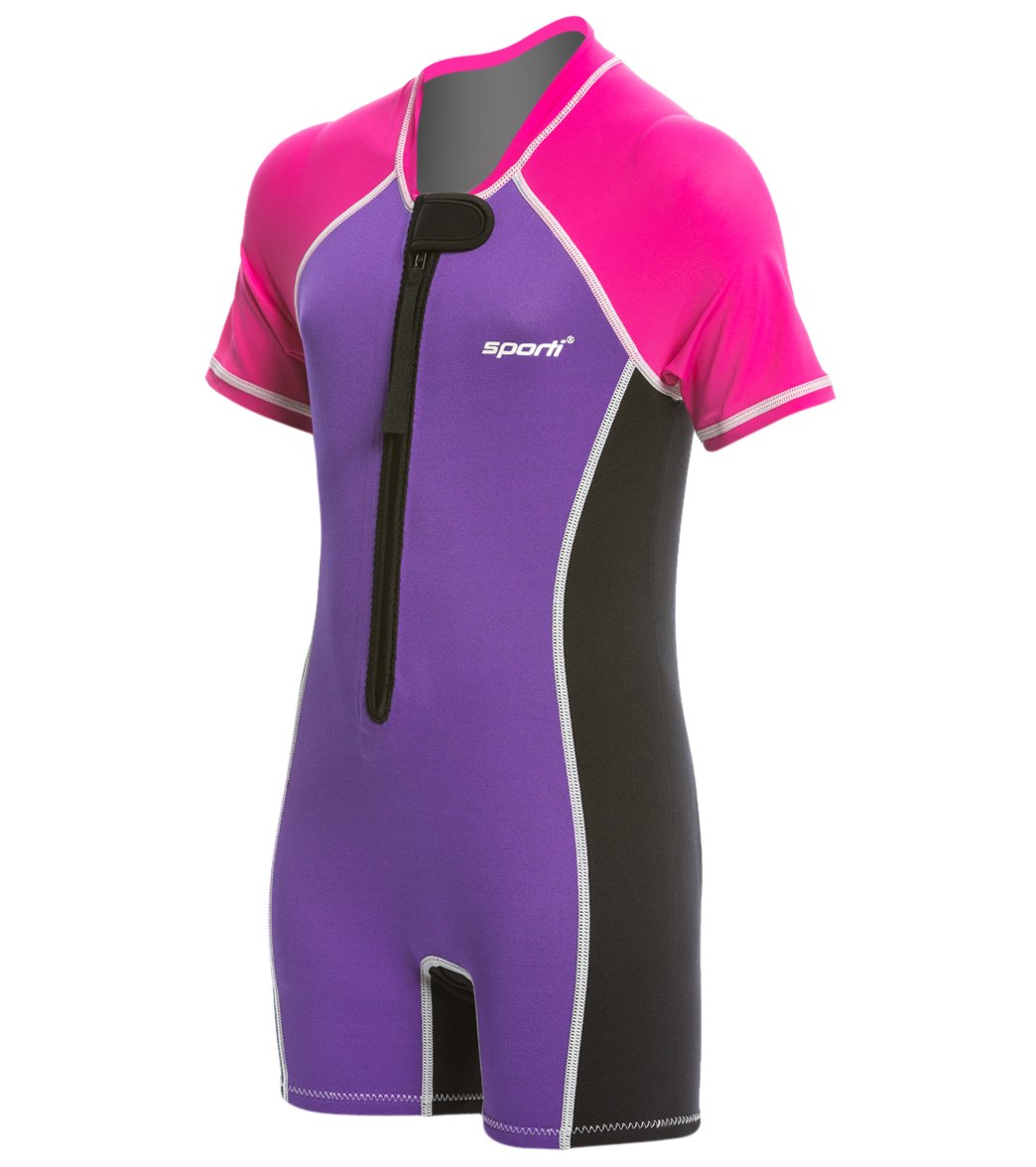 7395c18688 Sporti Kid s UPF 50+ Short Sleeve Solid Thermal Suit at SwimOutlet.com