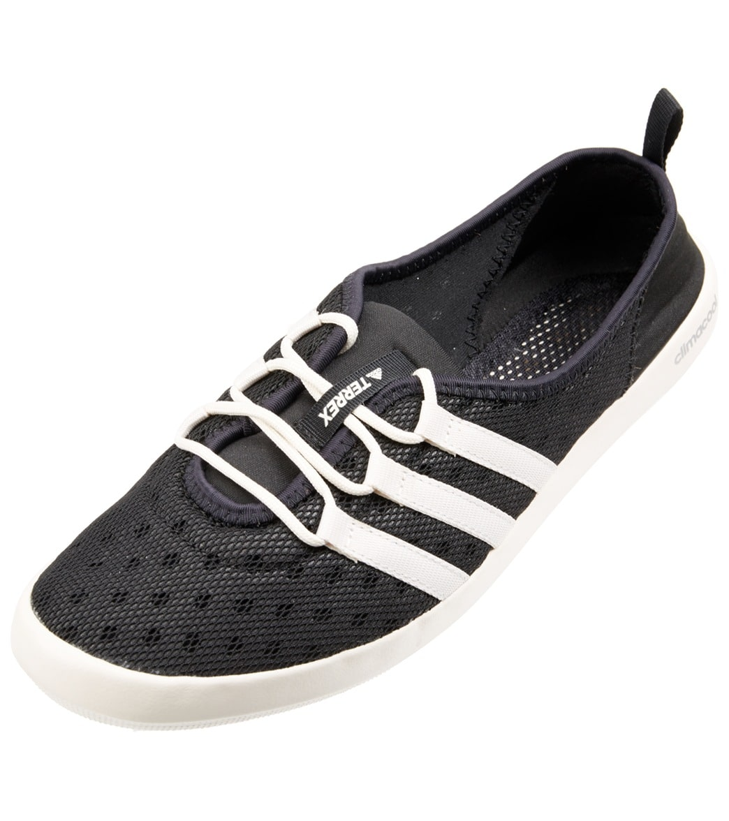 Adidas Women's Climacool Boat Sleek Water Shoes - Black/Chalk White/Matte Silver 11 Eva/Foam/Rubber - Swimoutlet.com