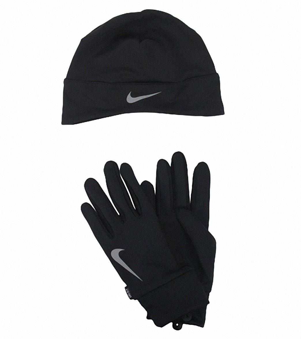 b4e2f9cc6598f6 Nike Men's Running Dri-Fit Beanie/Glove Set at SwimOutlet.com