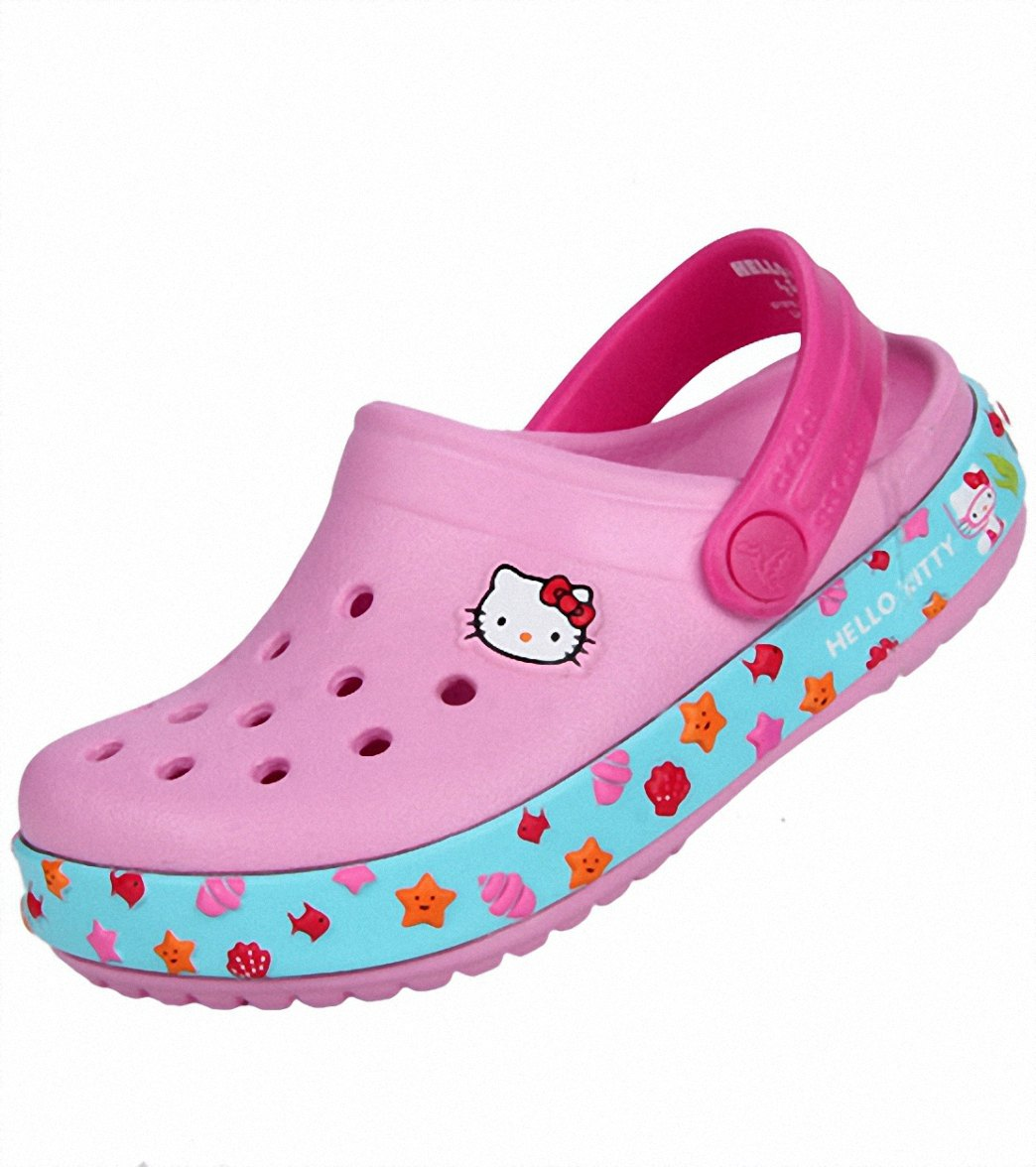 a06bfe5d39d71f Crocs Girls  Hello Kitty Clogs at SwimOutlet.com