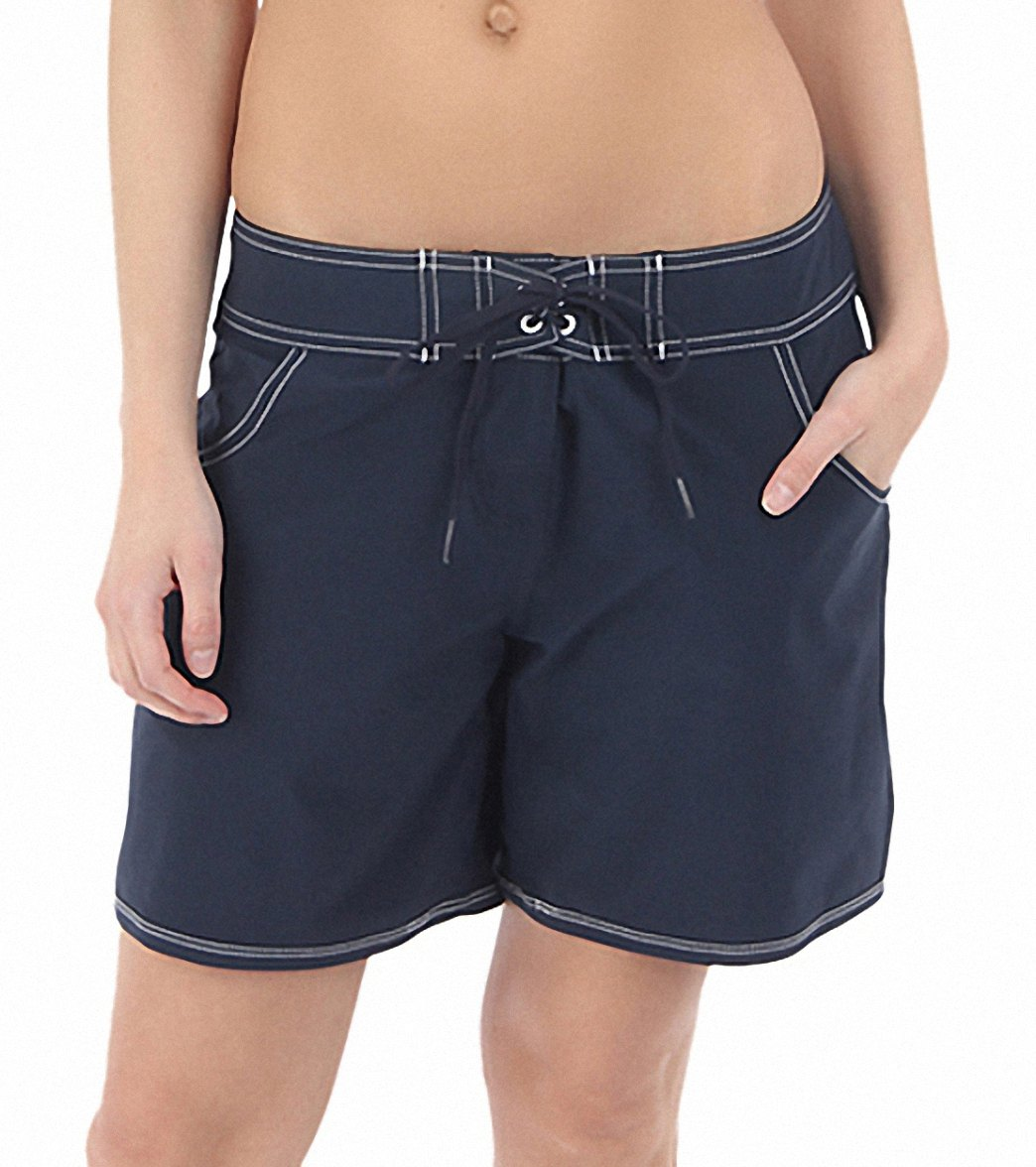 b6b502f870 Seafolly Women's Barracuda Mid Length Boardshort at SwimOutlet.com - Free  Shipping