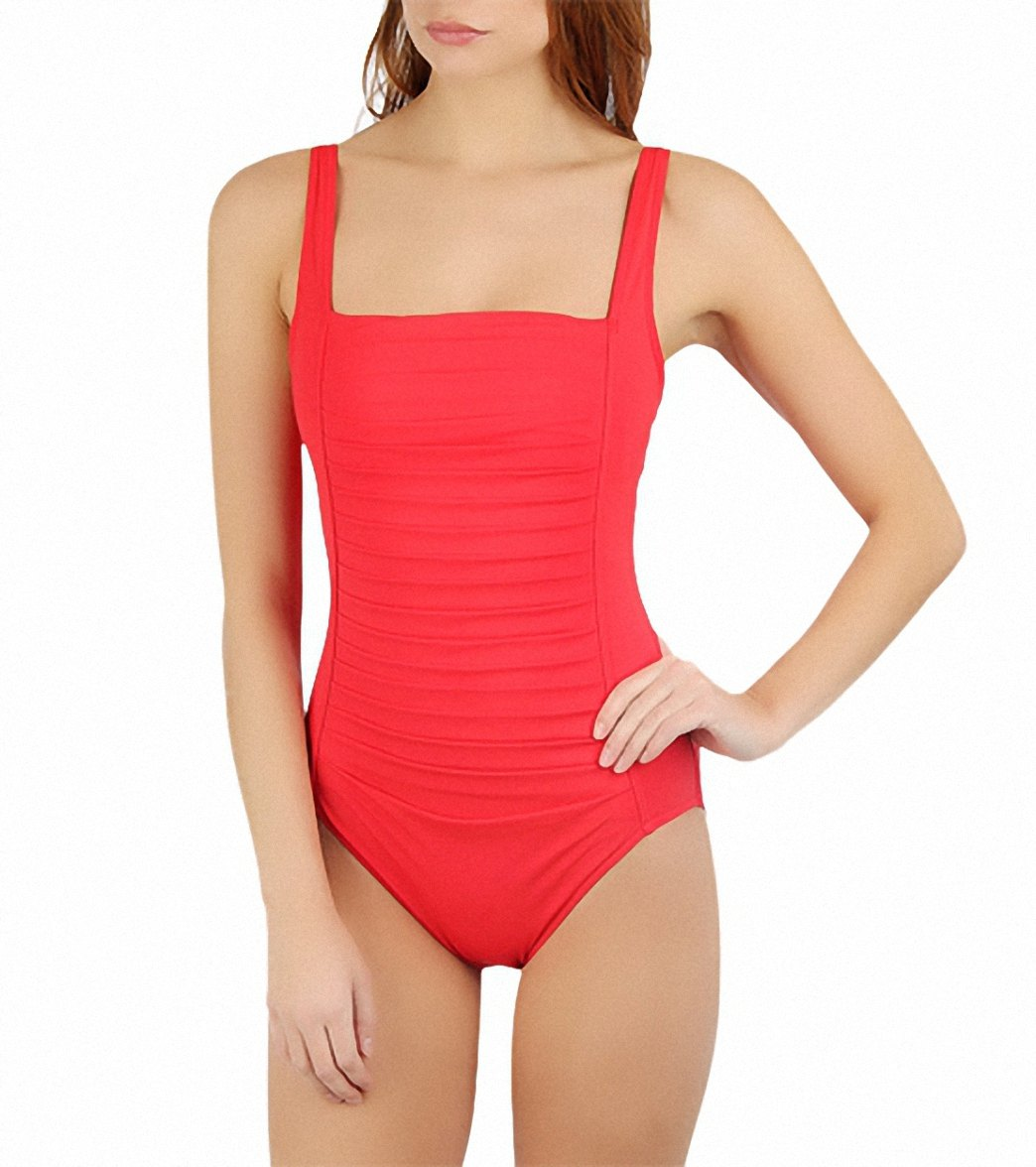 d872a699e3 ... Calvin Klein Womens Pleat Front One Piece Swimsuit. Play Video. Play  Video