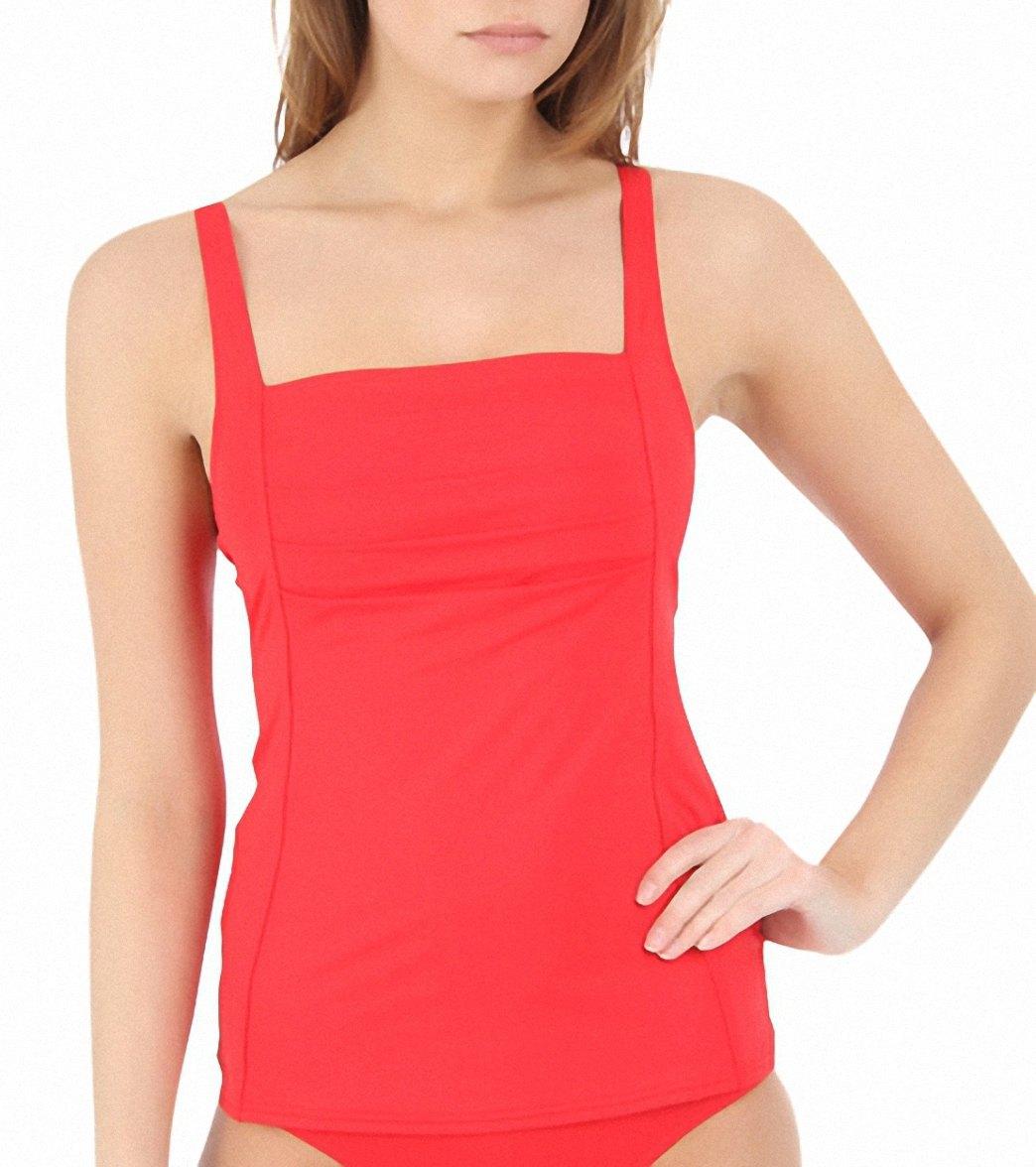 0383fa4f2cb36 Calvin Klein Women's Pleat Tankini Top at SwimOutlet.com - Free ...