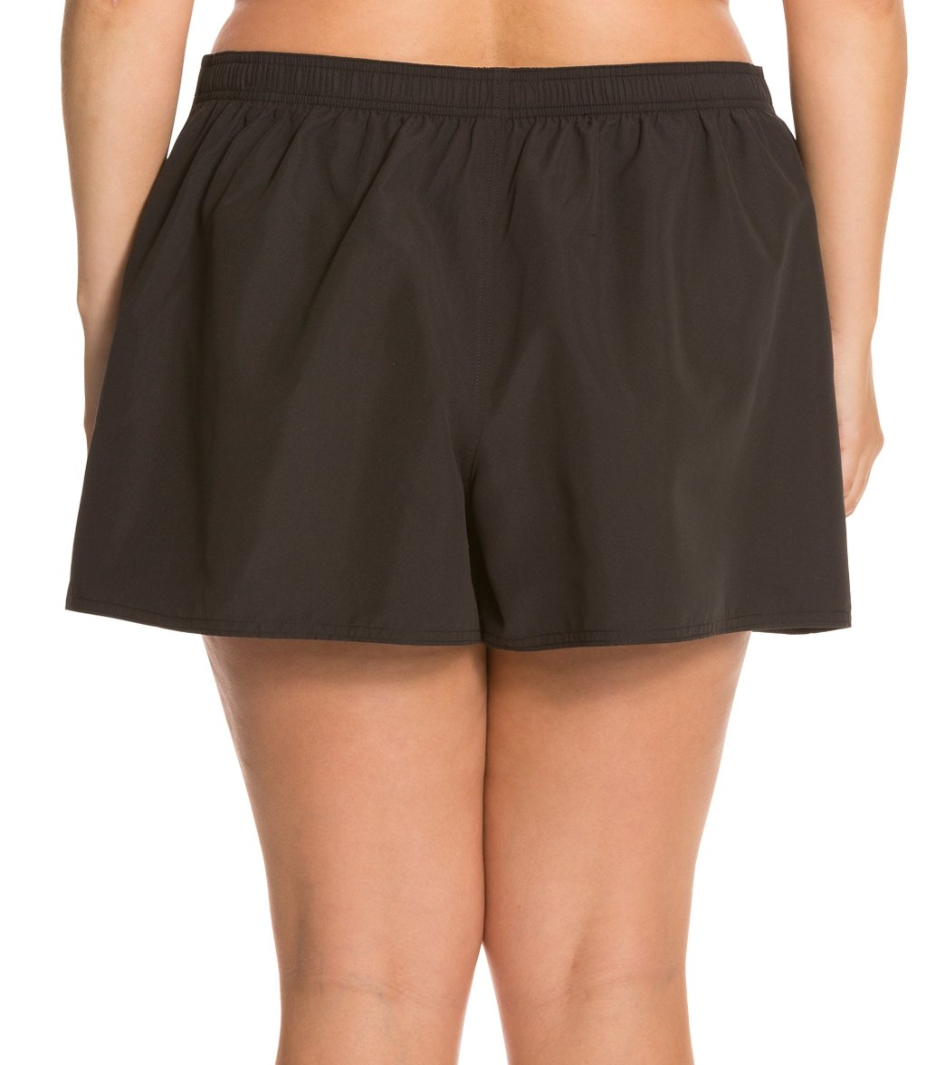 9deb82a5aaa Maxine Women s Plus Size Solid Woven Boardshort at SwimOutlet.com