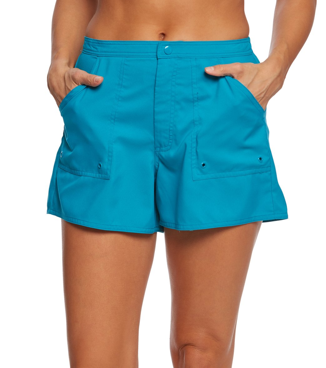 761b5eda466a0 Maxine Women s Solid Woven Boardshort at SwimOutlet.com