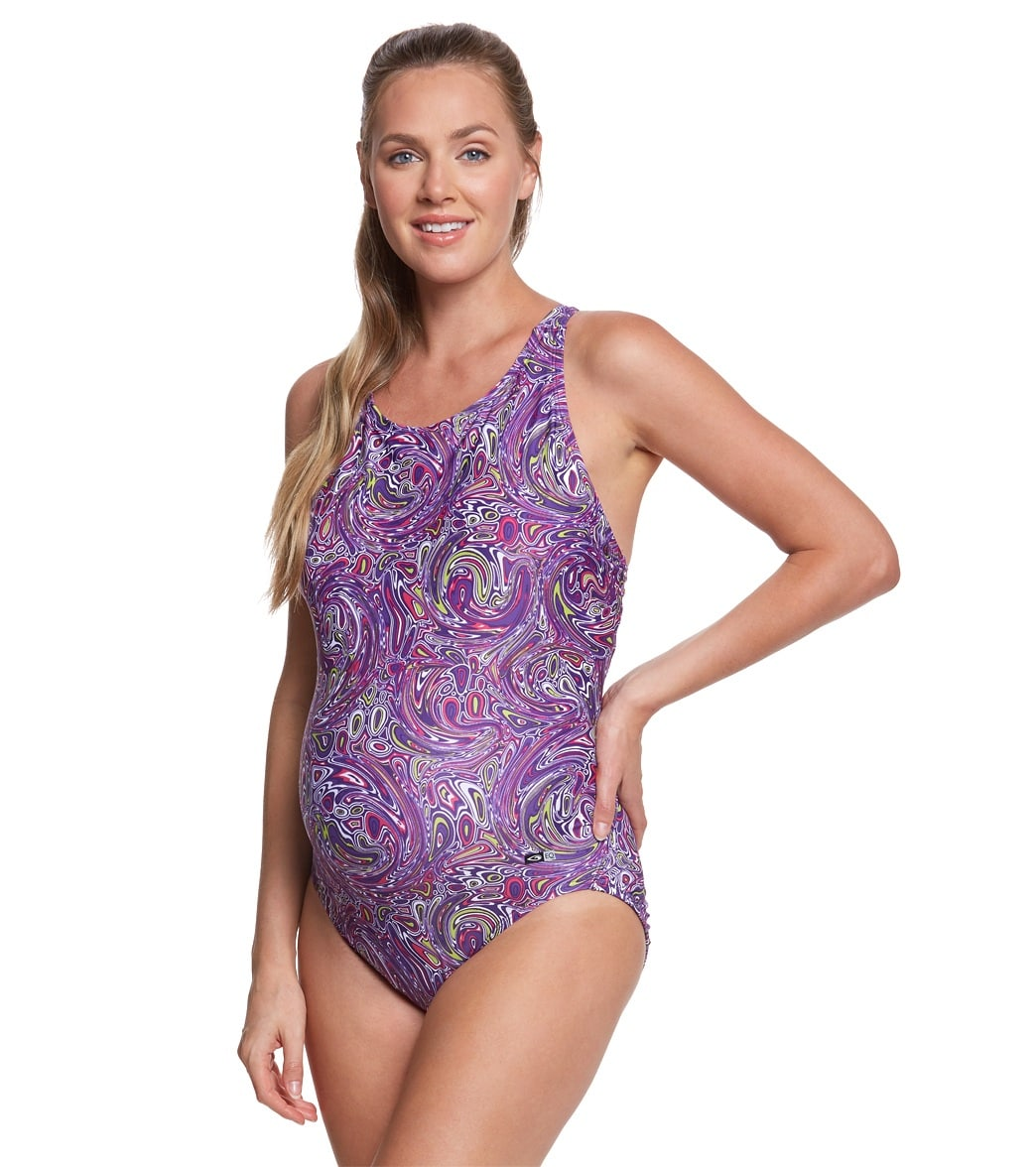 effb45f4b4a03 EQ Swimwear Laguna Maternity Print One Piece at SwimOutlet.com ...