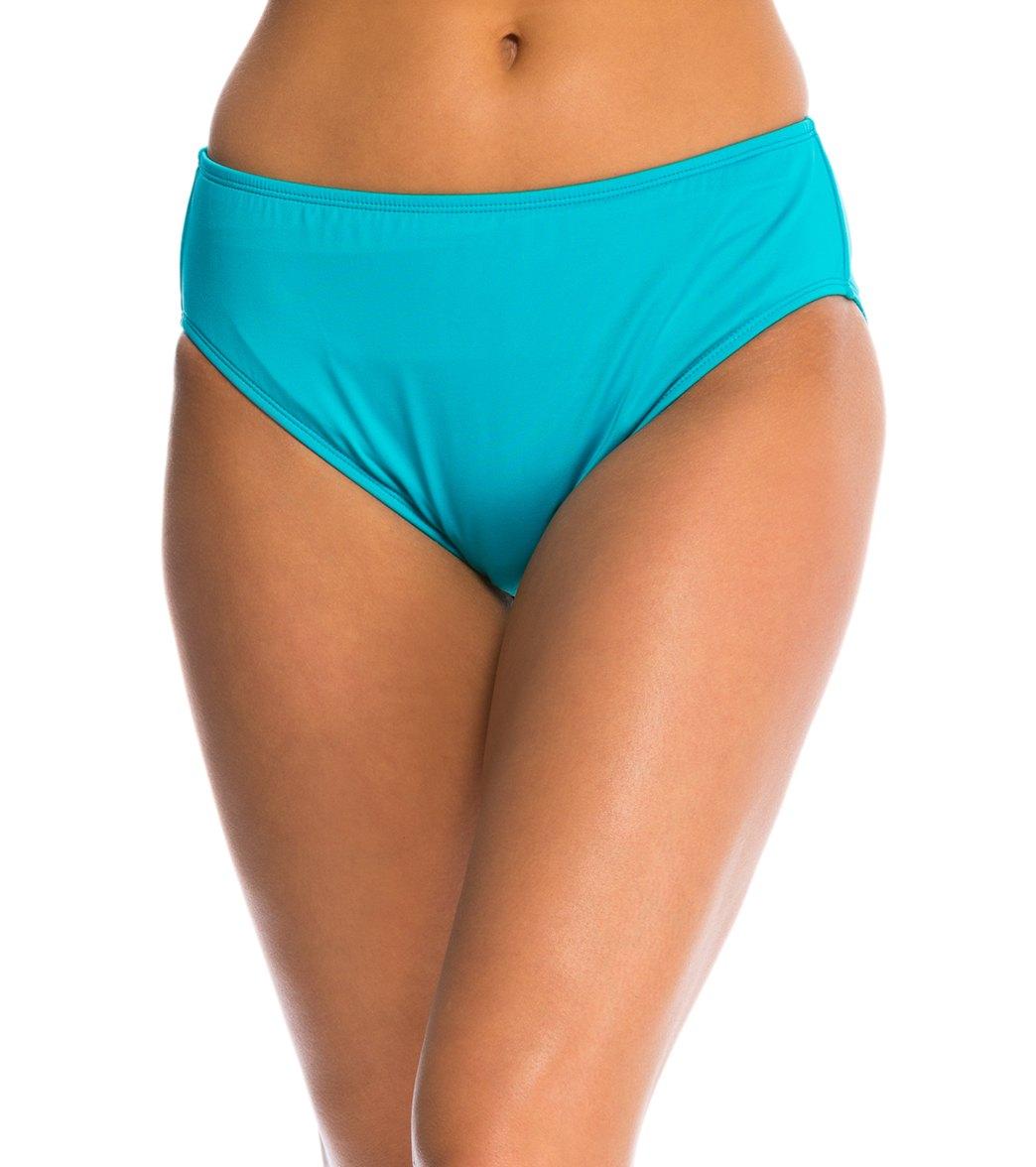24th & Ocean Mid Rise Bikini Bottom At SwimOutlet.com