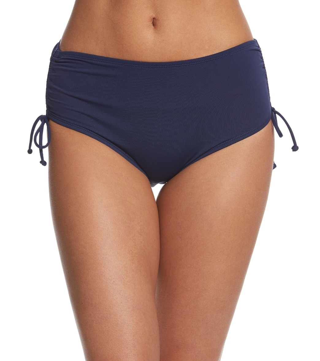 992a631a676 Beach House Solid Hayden High Waisted Adjustable Side Bikini Bottom at  SwimOutlet.com