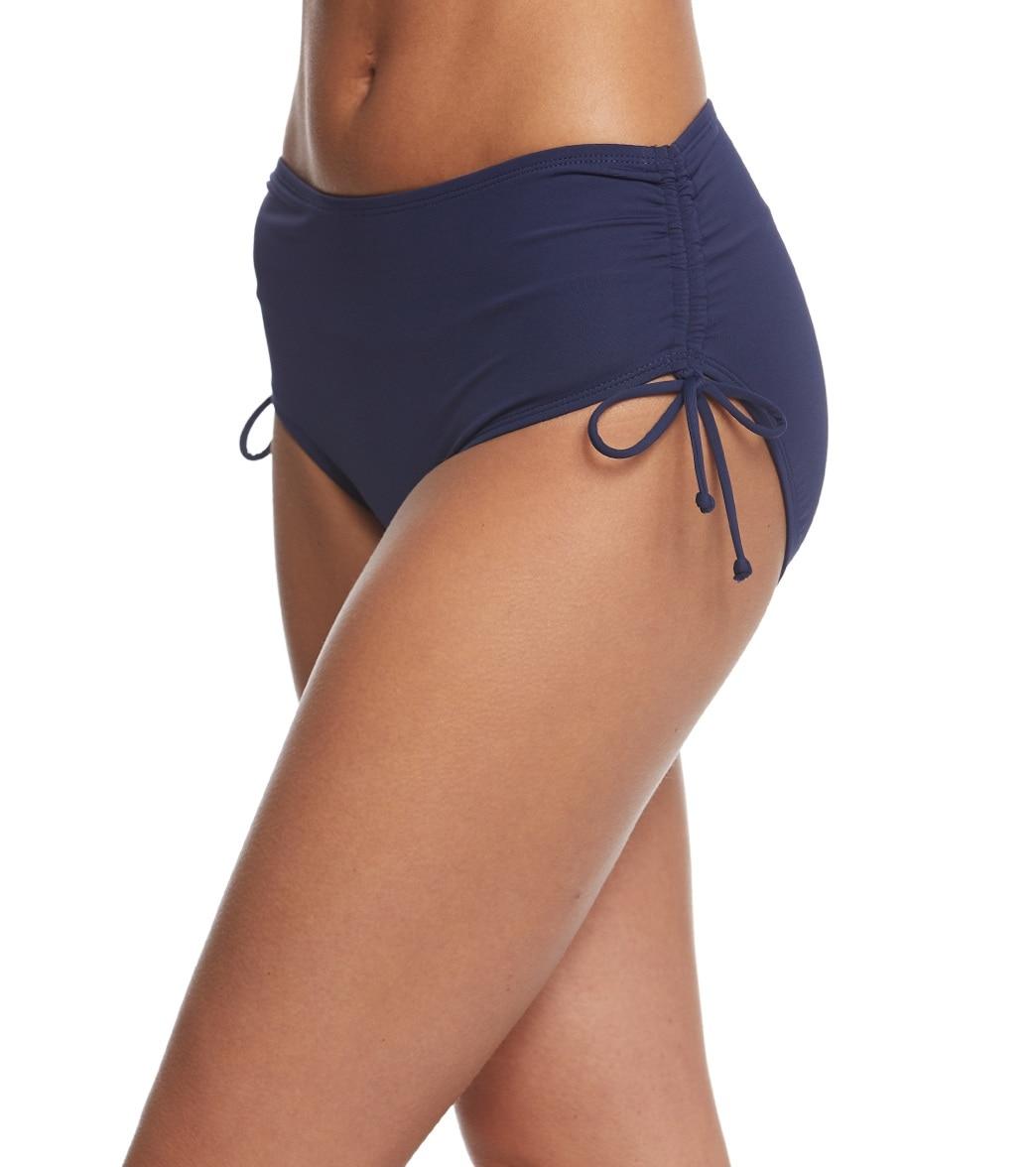 49aaa0d304 Beach House Solid Hayden High Waisted Adjustable Side Bikini Bottom ...