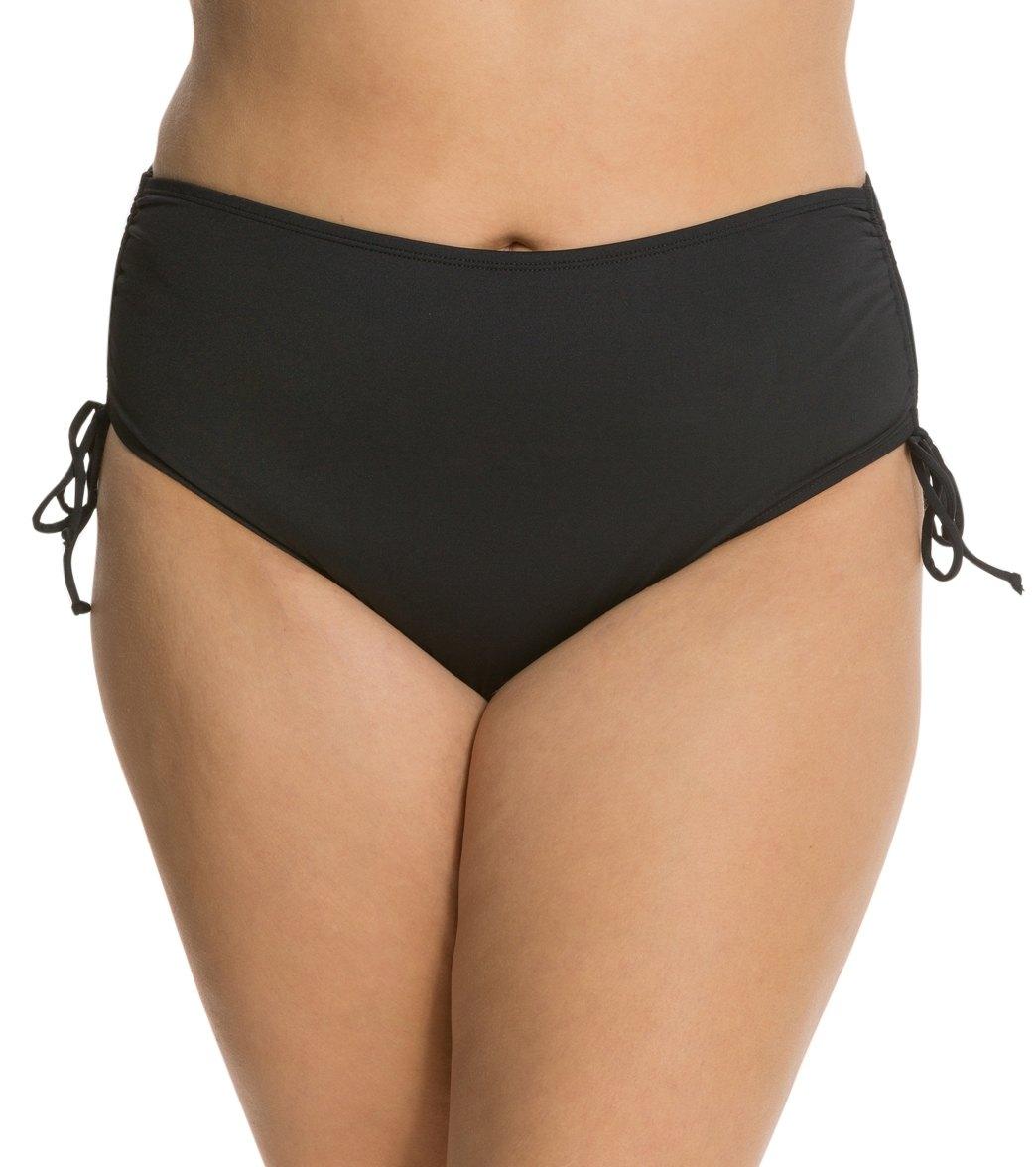 Beach House Plus Solid Hayden High Waisted Adjustable Side Bikini Bottom
