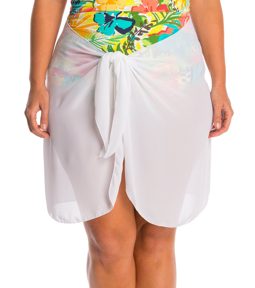 01b22ac743 Dotti Plus Size Sarong, So Right Short Pareo at SwimOutlet.com