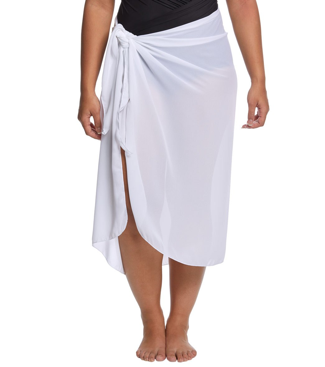 827767a6ee9f7 Dotti Plus Size Sarong, So Right Long Pareo at SwimOutlet.com