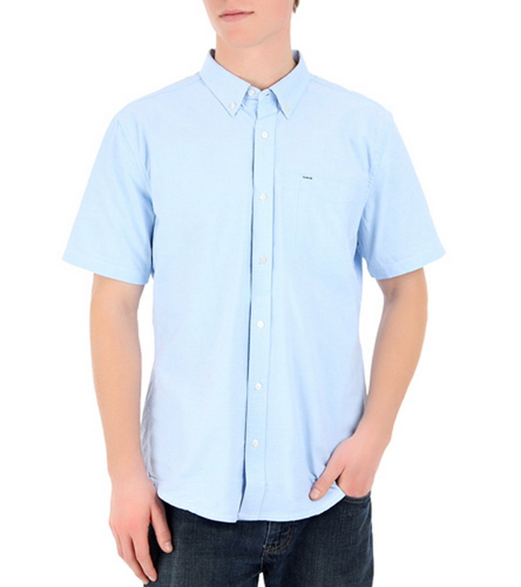 Hurley Mens Ace Oxford Ss Shirt At Swimoutlet Free Shipping