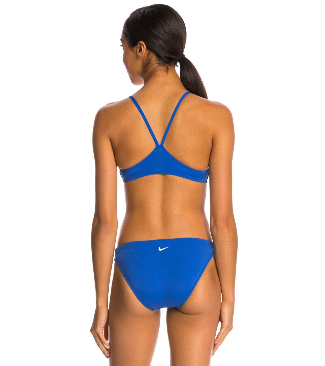 fc411e4ccaa Nike Swim Poly Core Solids Sport Two Piece Swimsuit Set at ...