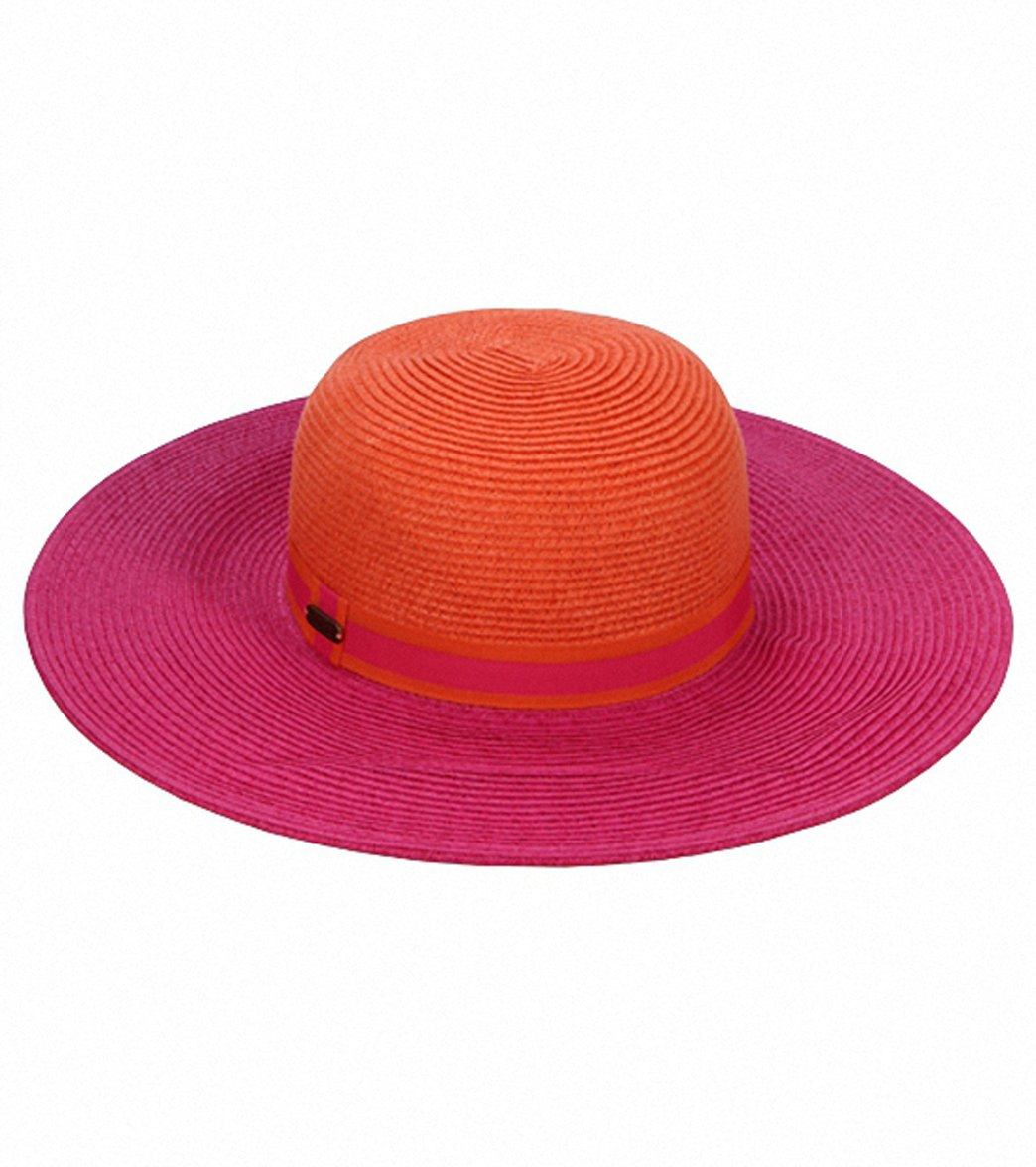 29bbca4f Sun N Sand Elena Two Ribbon Trim Straw Hat at SwimOutlet.com