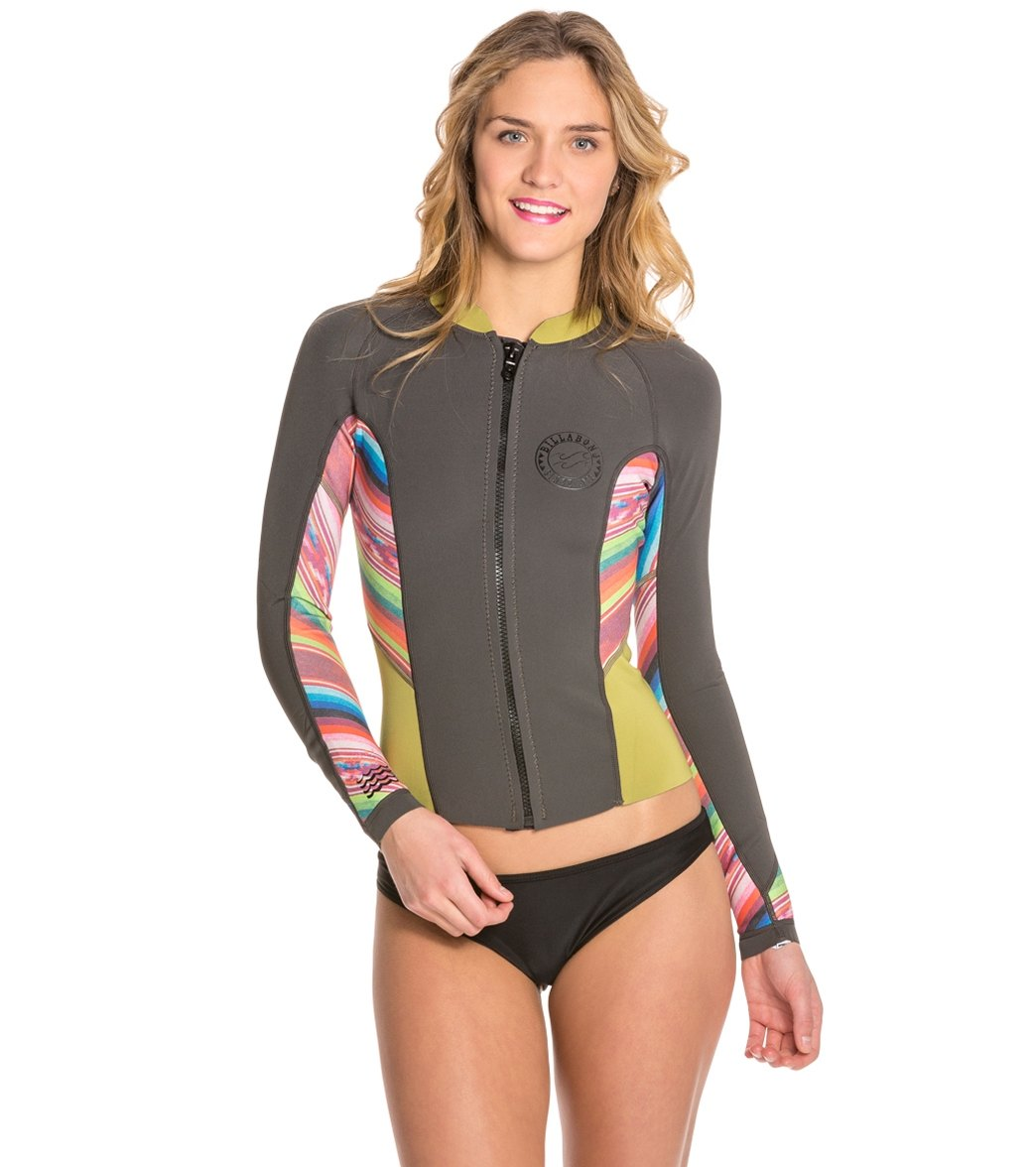 Billabong Women s Peeky Wetsuit Jacket at SwimOutlet.com - Free ... 81bbf5265