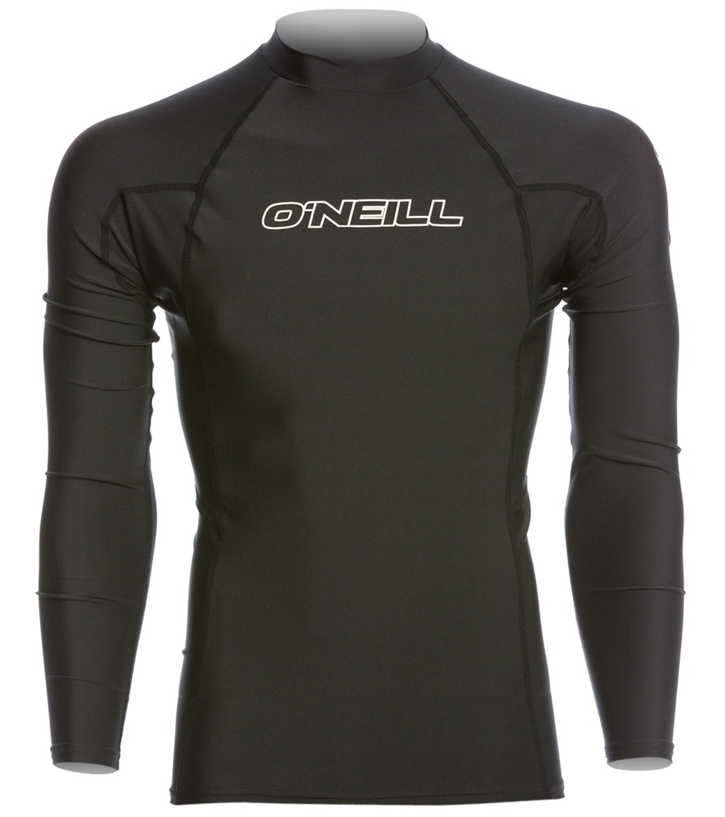 f363c2e5a93 O Neill Men s Basic Skins Long Sleeve Crew Rashguard at SwimOutlet.com