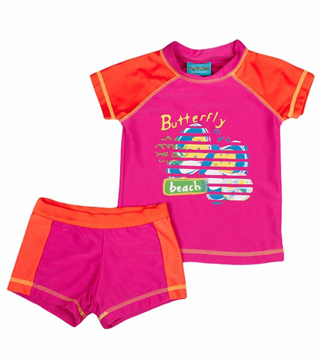 21e60d1631 Jump N Splash Girls' Butterfly S/S Rashguard Set w/FREE Goggles (4 ...