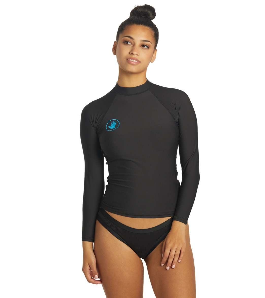 c6e7a333317 Body Glove Women s Basic Long Sleeve Fitted Rash Guard at SwimOutlet.com