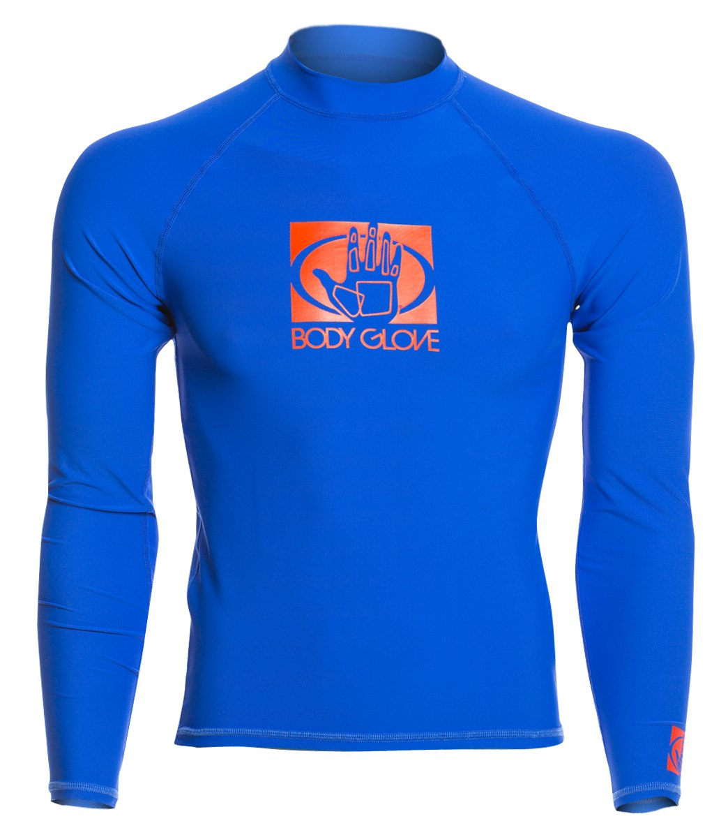 0f55251928 Body Glove Men's Basic Long Sleeve Fitted Rash Guard at SwimOutlet.com