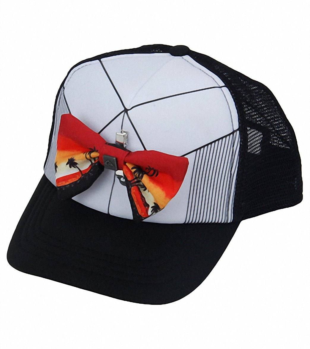 Quiksilver Boys  Diggler Bow Tie Trucker Hat (Kids) at SwimOutlet.com 68cce60974dd