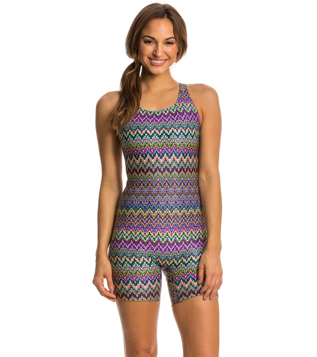 EQ Swimwear Spectrum Print Polyester Unitard