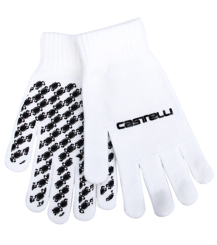 One Size Fit All Castelli Men/'s Unico White Gloves