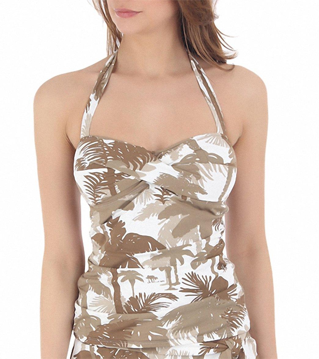 4b5dfa3b21 Tommy Bahama Swimwear Coconut Grove Palm Trees Halterkini Bikini Top at  SwimOutlet.com - Free Shipping