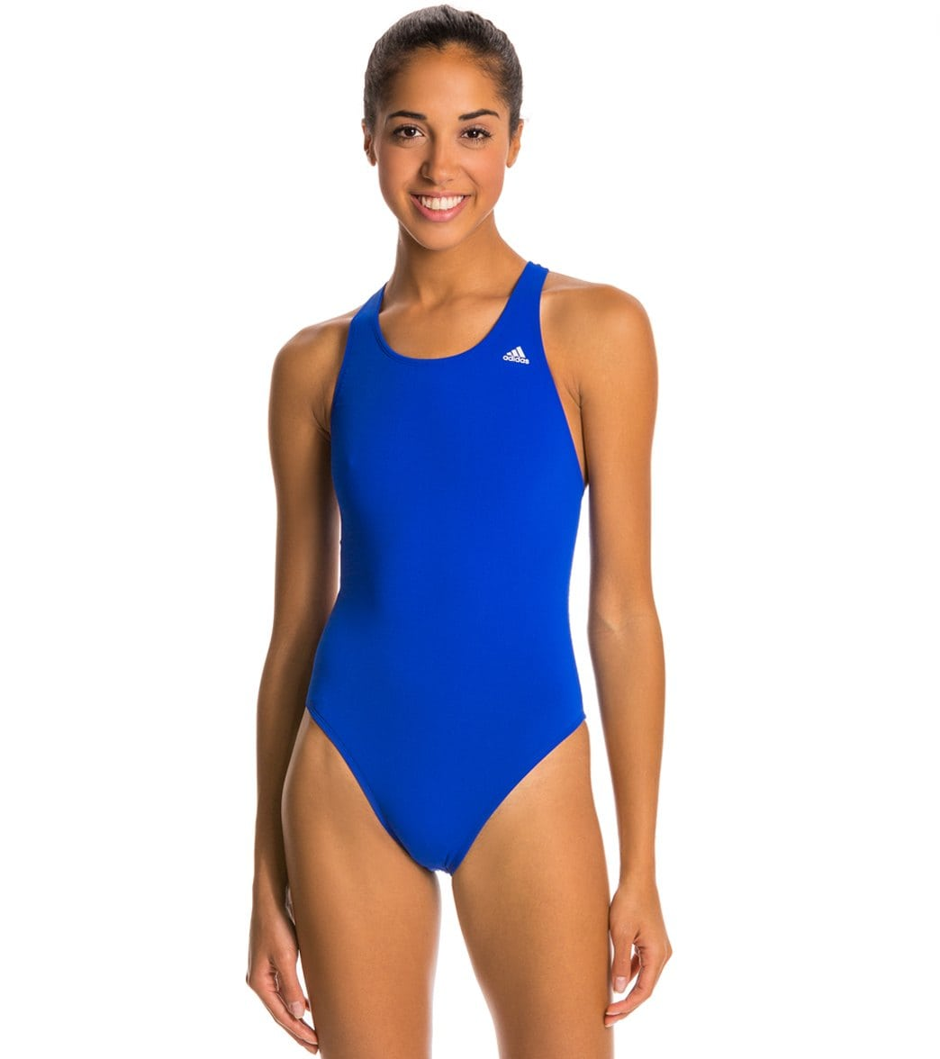 Adidas Women's Solids V Back One Piece Swimsuit