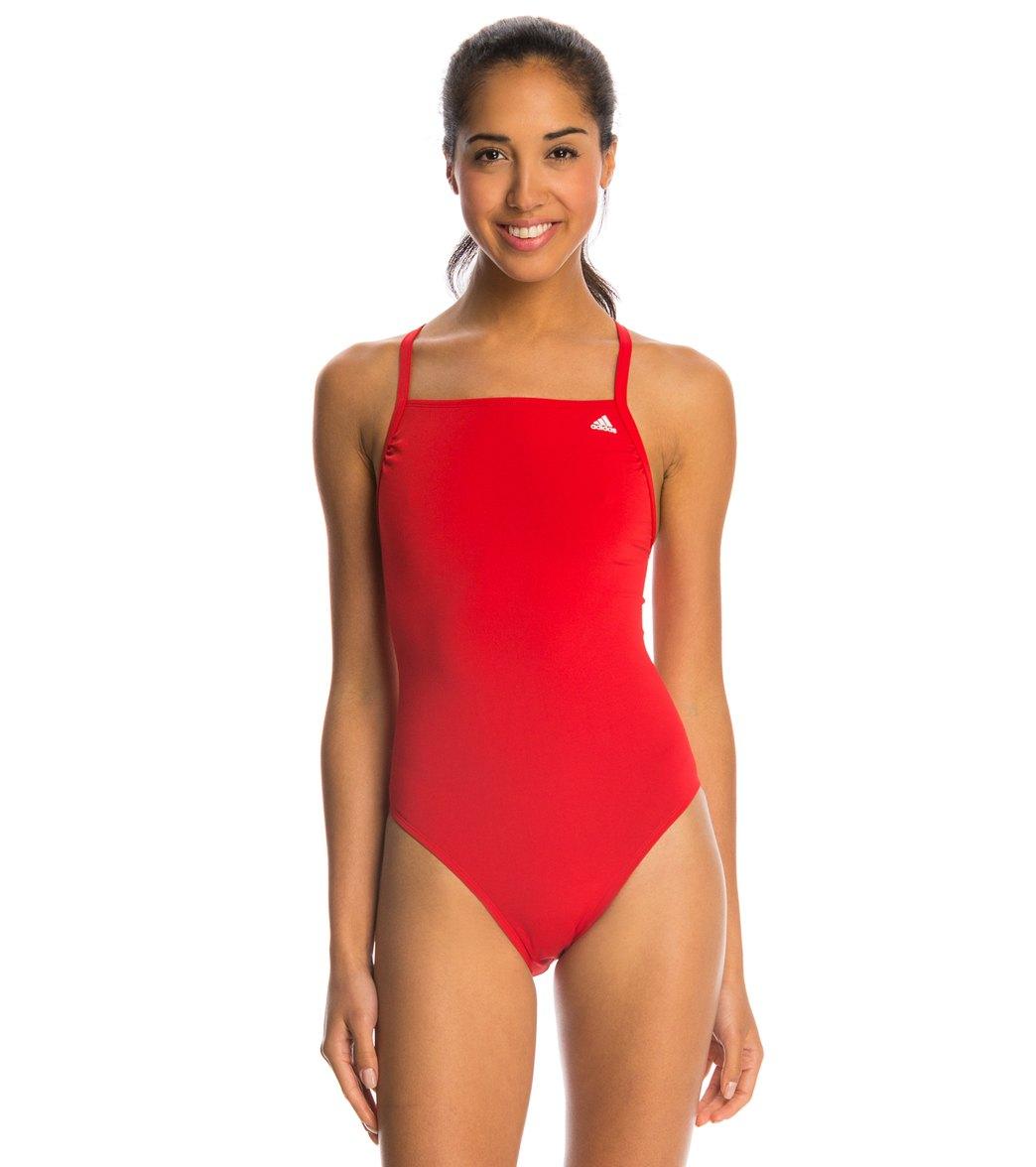 Adidas Women's Infinitex + Solids Vortex Back One Piece Swimsuit