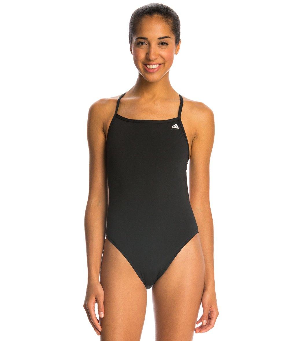 Adidas Women's Infinitex + Solids C Back One Piece Swimsuit