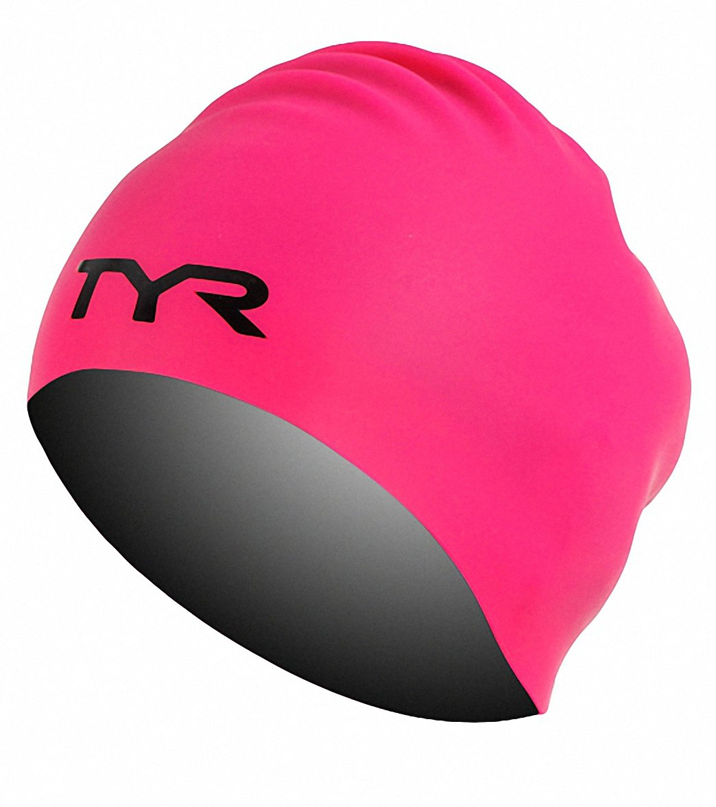 TYR Long Hair Wrinkle Free Silicone Swim Cap at SwimOutlet.com 65fa8101f