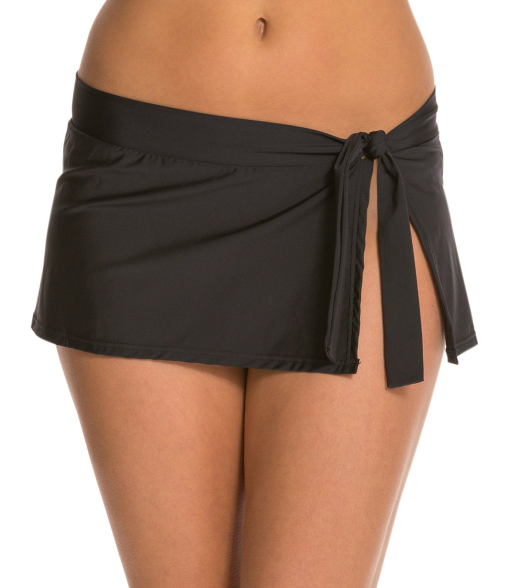 cb260a408194d Tommy Bahama Pearl Solids Swim Skirt at SwimOutlet.com - Free Shipping
