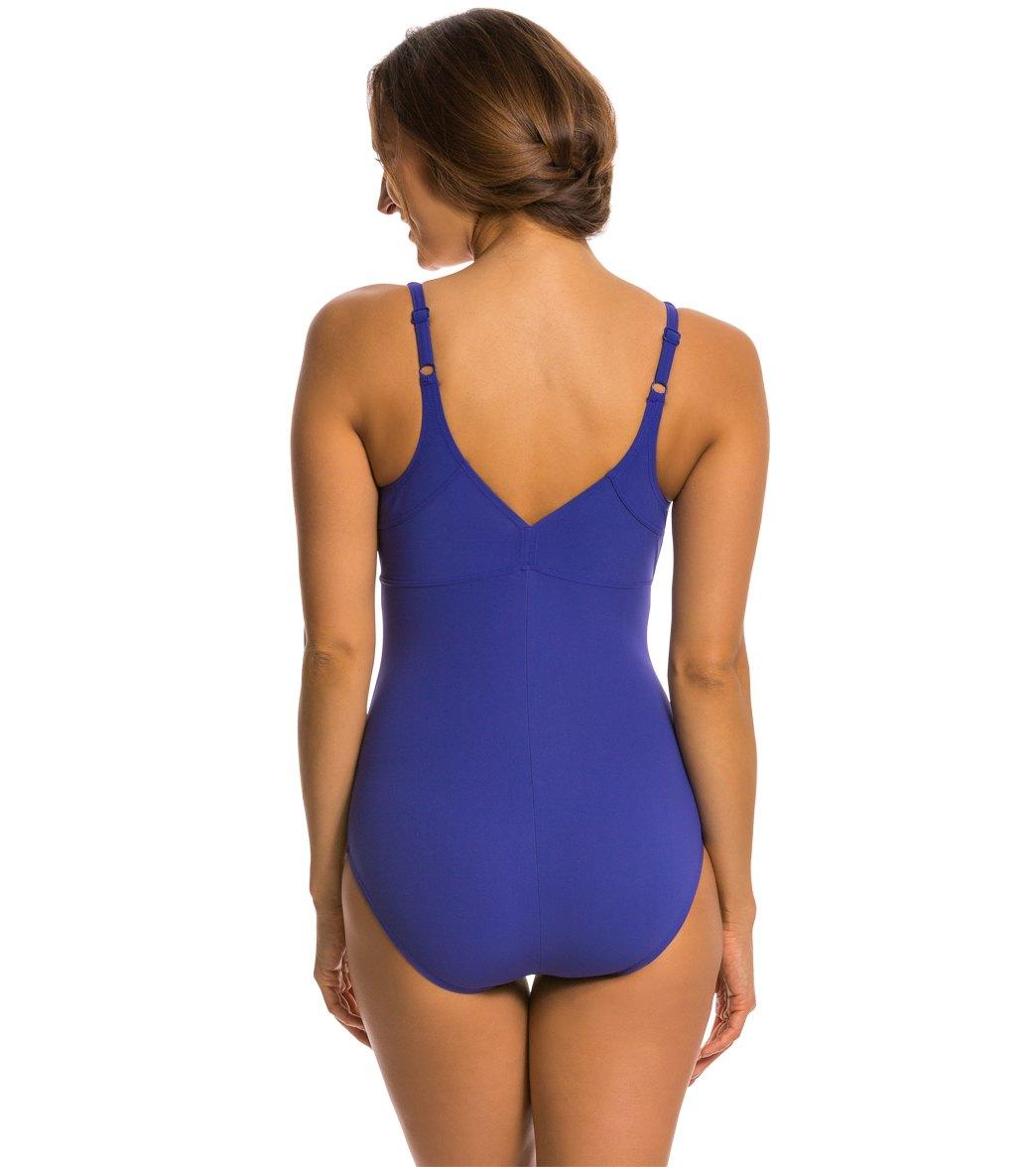 1809204297bb9 Arena Aquafit Mowgli Low One Piece Swimsuit at SwimOutlet.com - Free ...