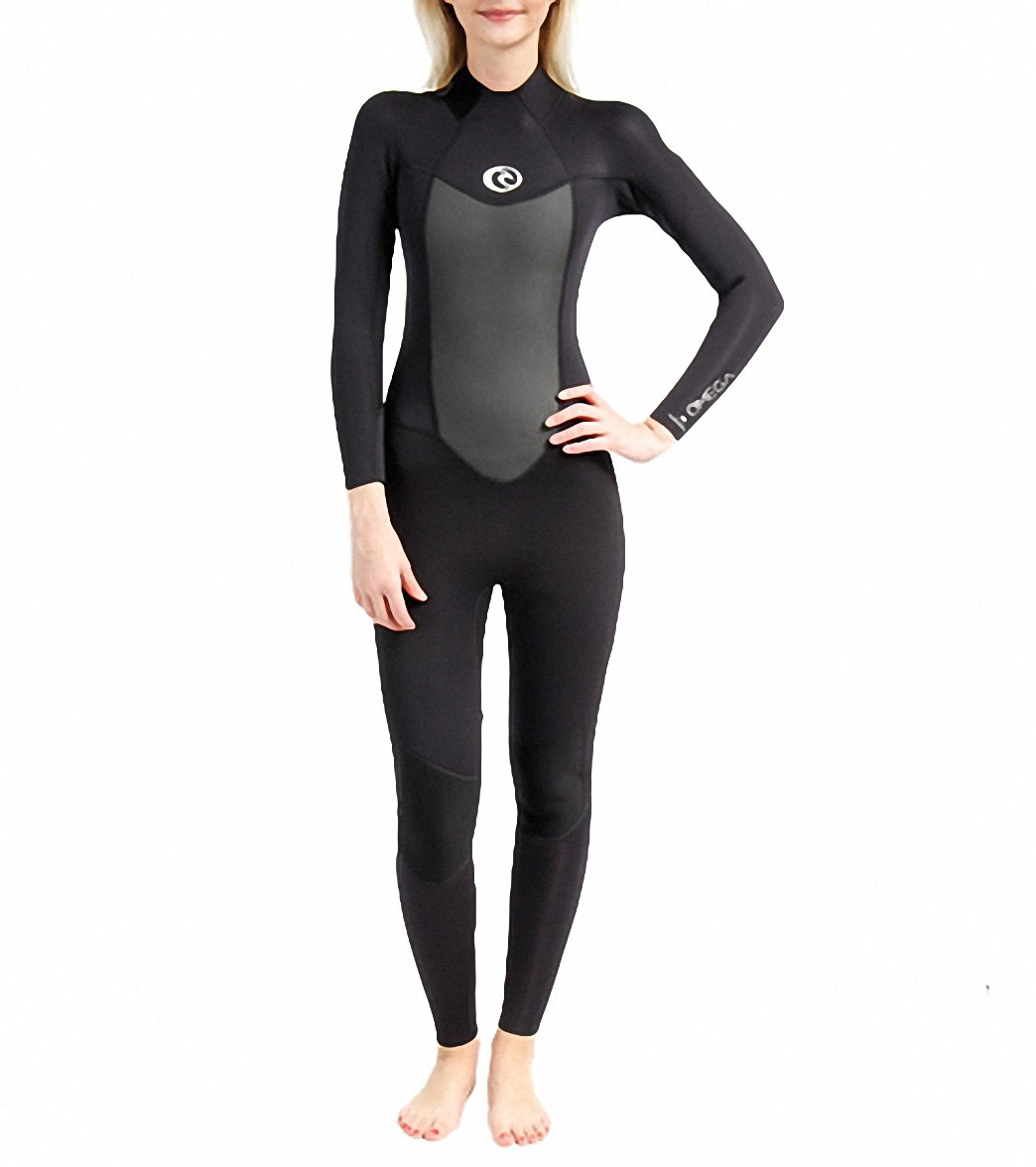 Rip Curl Women s Omega 3 2mm Back Zip Fullsuit Wetsuit Flatlock at ... f55a20365