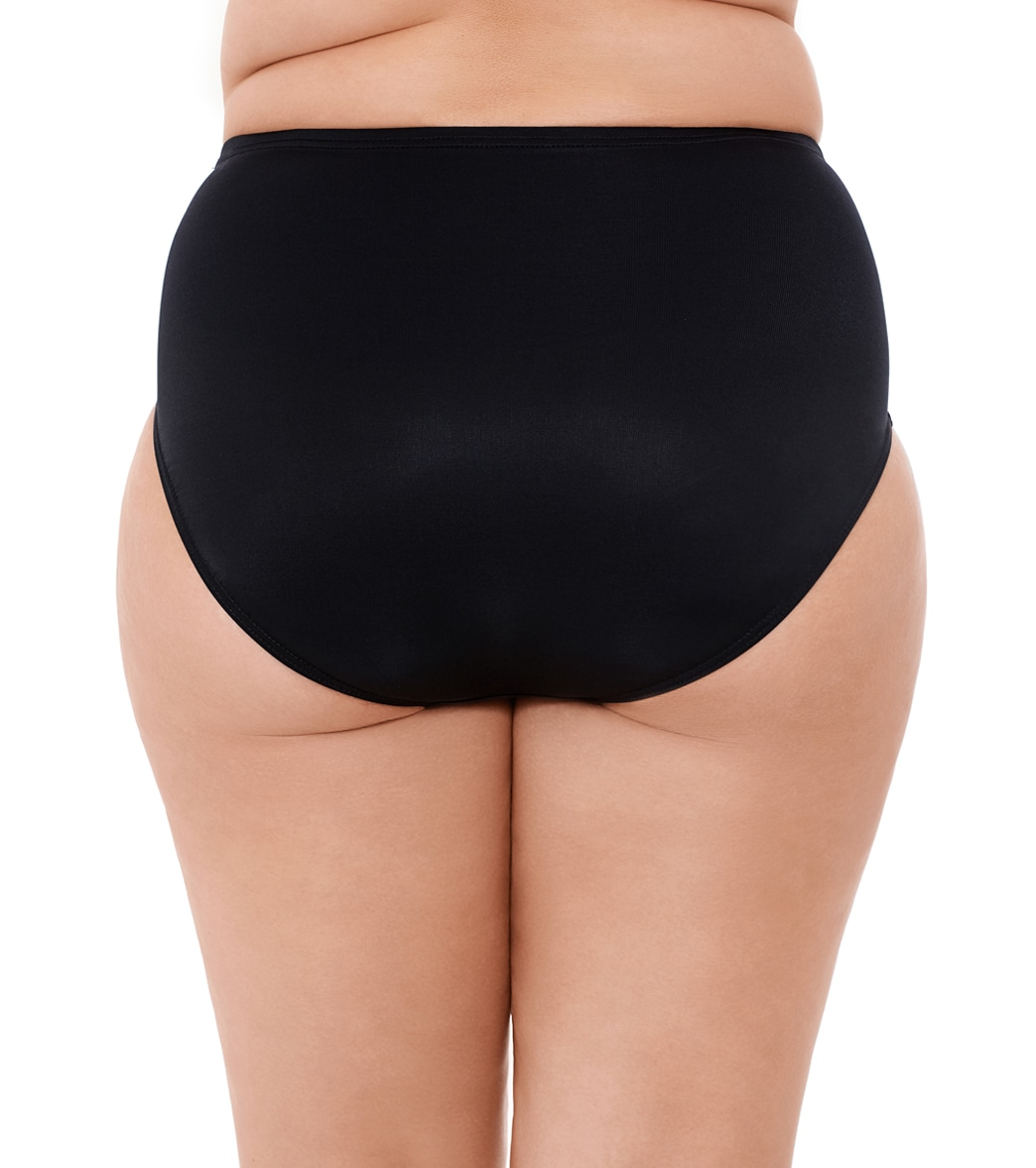 66ed519963 Miraclesuit Plus Size Solid Basic Bikini Bottom at SwimOutlet.com - Free  Shipping