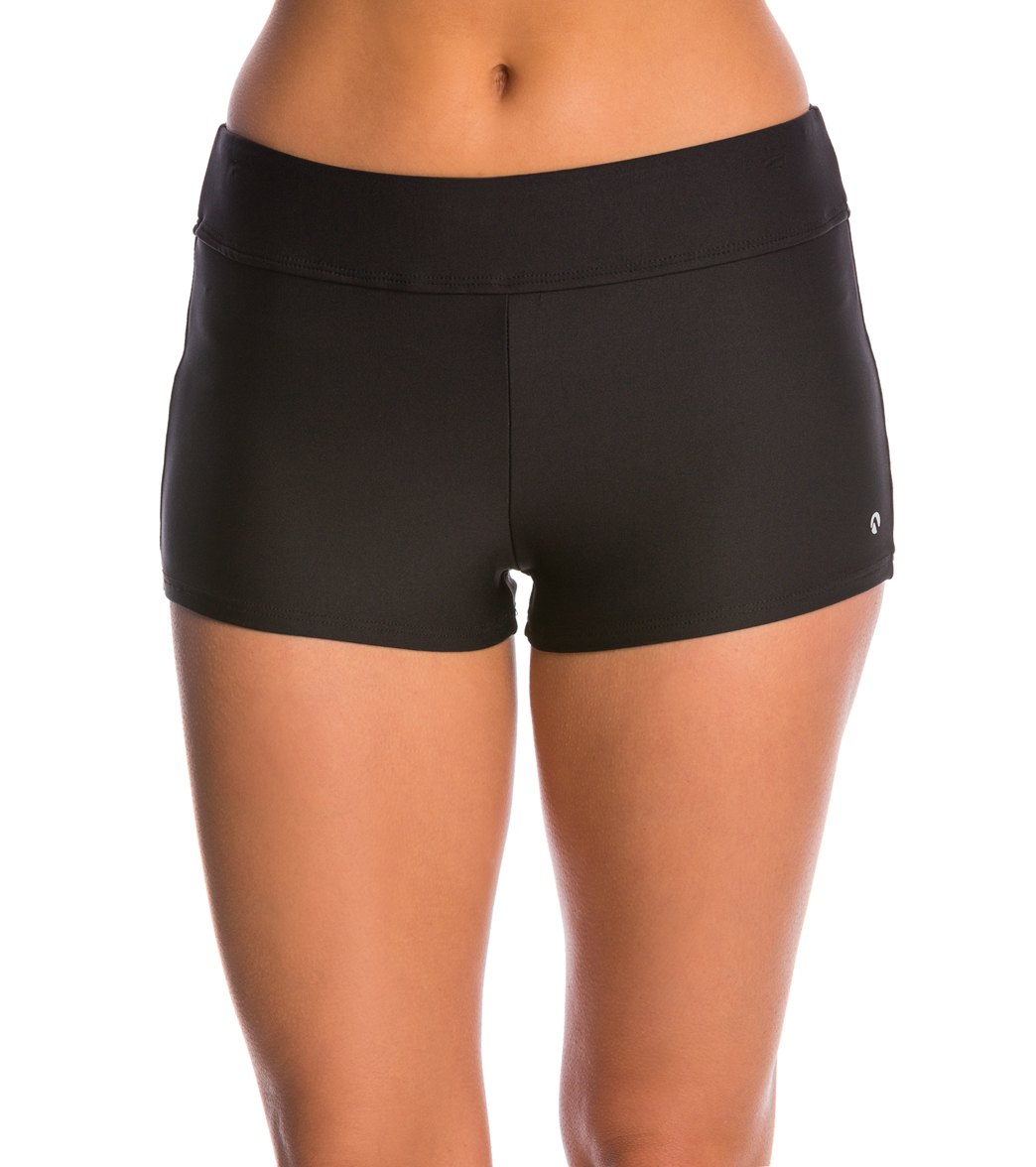 9fecc82119 Next Good Karma Solid Jump Start Mid Rise Swim Short at SwimOutlet.com -  Free Shipping