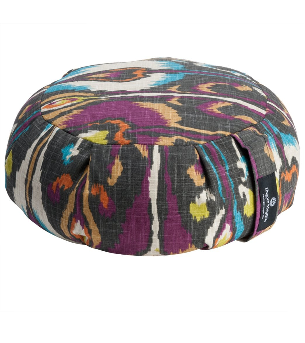 hugger mugger zafu printed yoga meditation cushion at free shipping
