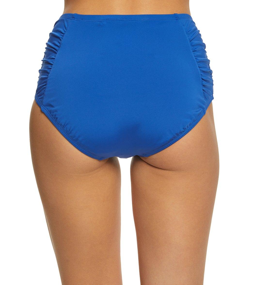 87f40f42b85 Jantzen Signature Solid High Waist Bikini Bottom at SwimOutlet.com ...
