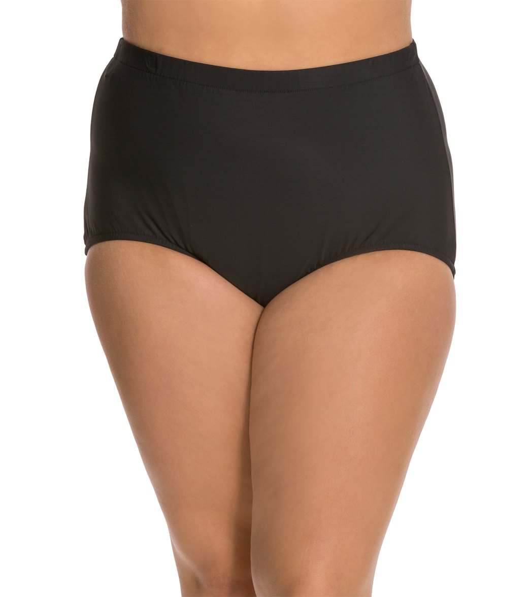 cc66e749dbbdd Penbrooke Plus Size Solid Girl Leg Bottom at SwimOutlet.com