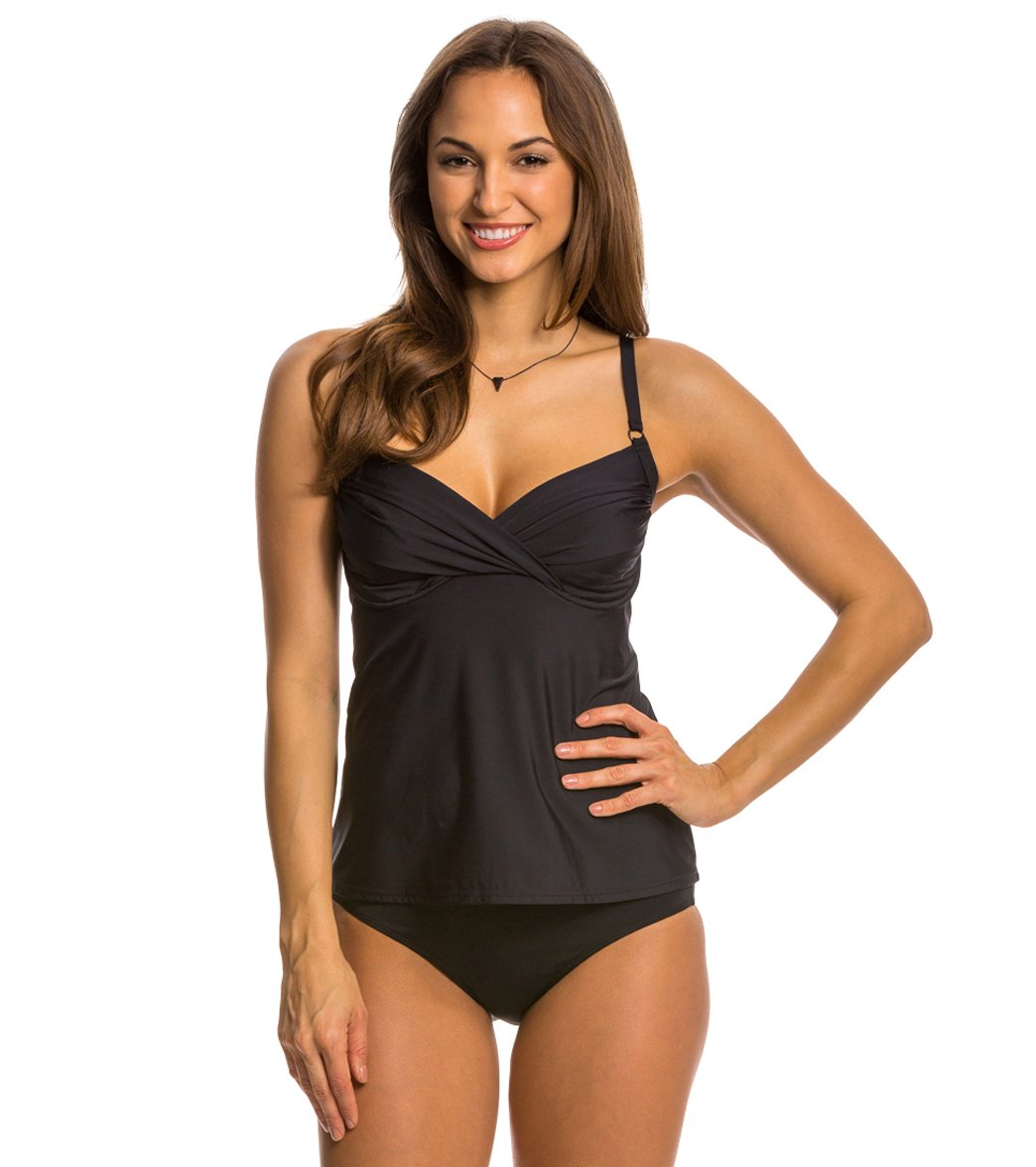 08445d950d2ab Swim Systems Solid Crossroads Tankini Top (D/DD Cup) at SwimOutlet ...